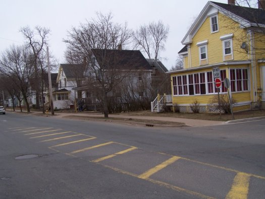 William Redden built these houses on east Main Street around the time Kentville was incorporated