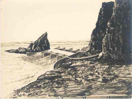 Artist's conception of harnessing Fundy tides