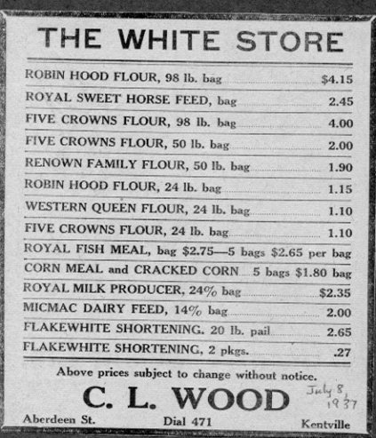 The White Store advertisement, 1937