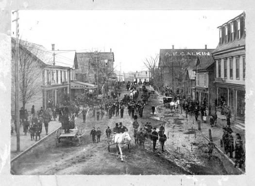 Horse Show parade, Webster St. Kentville, NS circa 1890-1910