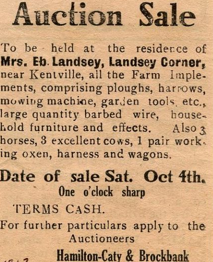 This advertisement in The Advertiser on October 2, 1913