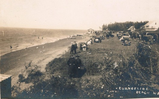 Evangeline Beach in the 1920s